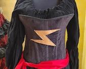 Miss Marvel Corset, Steampunk, Renaissance Costume, Steel Boned Corset, Super Hero, Renaissance, Costume, Cosplay