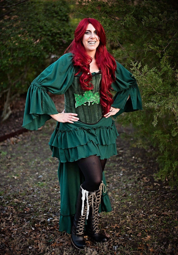 8cafc06d09 Posion Ivy Inspired Steampunk Costume Corset Victorian