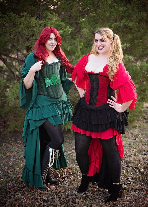 Red Cotton Chemise Steampunk Victorian Renaissance Etsy