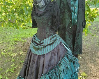 Haunted Mansion Inspired Ball Gown and Suit Couple's Costume *FABRIC CHANGE for skirt: see description*