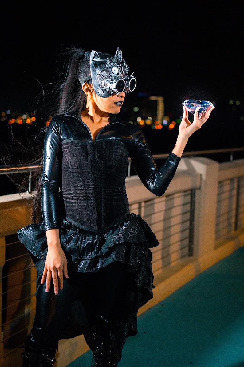 86311edb58 Catwoman Inspired Costume Steampunk Victorian Western Wild