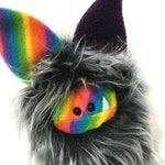 Rainbow Stuffed Monster Plushie - Faux Fur Soft Toy - Fuzzling - Gift under 45