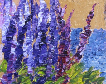 Maine Lupine in the Wind
