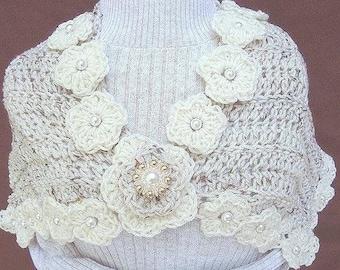 Crochet Pattern -  Shrug Shaw l- The Lisa Louise PDF 42 One pattern 2 looks, fits all