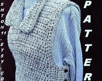 INSTANT DOWNLOAD Crochet Pattern PDF 107 Tabbard Vest