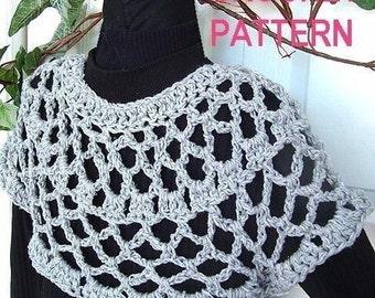 INSTANT DOWNLOAD Crochet Pattern PDF. 146- Easiest Shrug Pattern Ever- make it any size-Beginner Level
