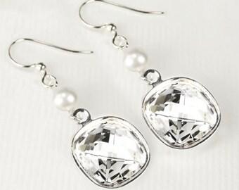 Multiple Sclerosis Earrings Orange And White Pearl Hoop Ms