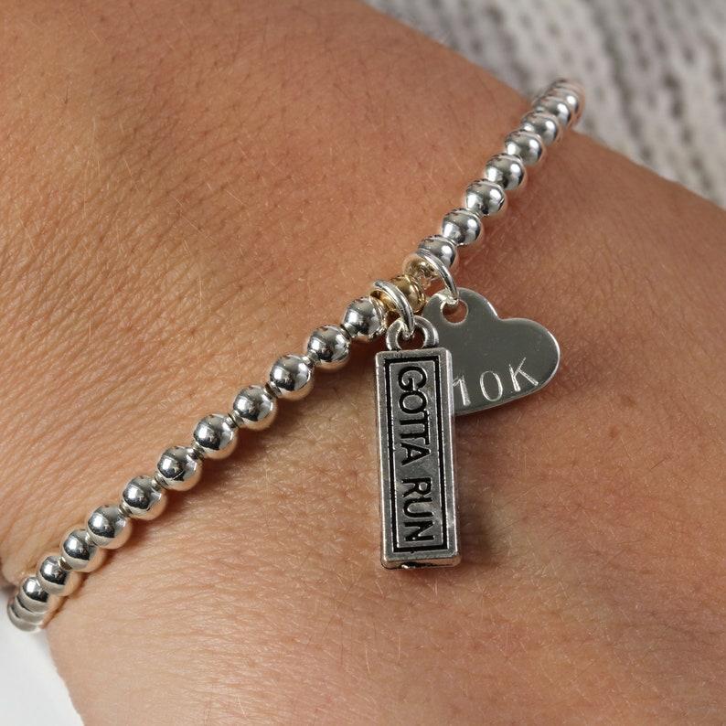 Personalised Marathon Charm Bracelet Gift For Runners