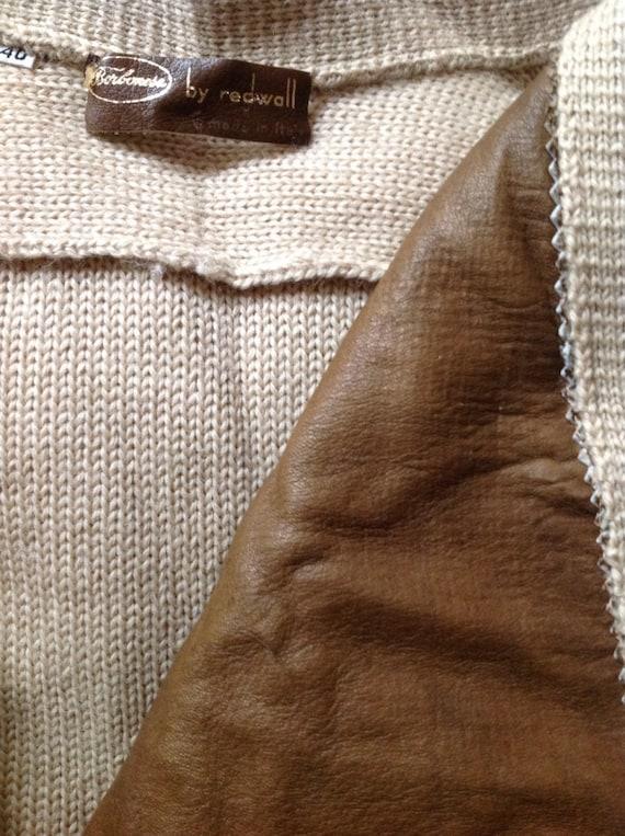 Borbonese Cream Suede Wool Sweater Cardigan Small… - image 5
