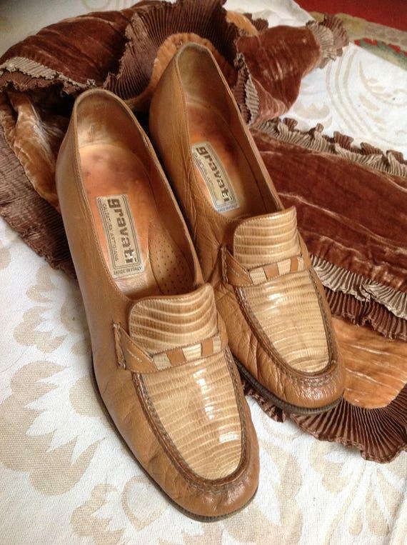 Gravati Loafers Tan Block Heel Loafer Beige US 7 EU 37 38 UK 5