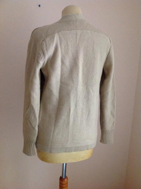 Borbonese Cream Suede Wool Sweater Cardigan Small… - image 4