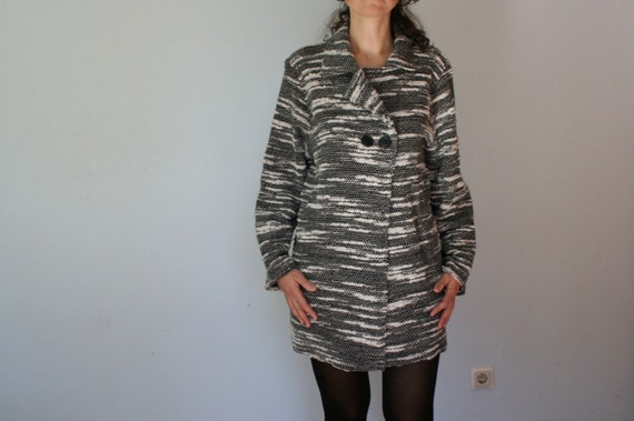 90s Wool Slouchy Blazer Cardigan Oversized Loose M
