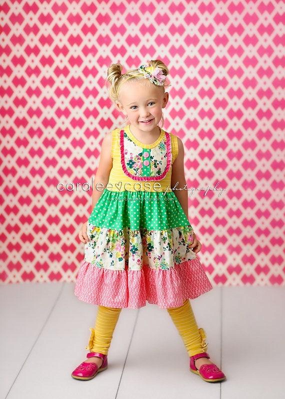 a2c5cab18843d Girls Summer Twist Dress boutique dresses for girls tank | Etsy
