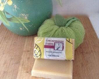 Avocado Lemongrass Goat Milk Soap | Handmade Soap | Bar Soap | Lemongrass Essential Oil Soap | Natural Goat Milk Soap | Bar Soap | Face Soap