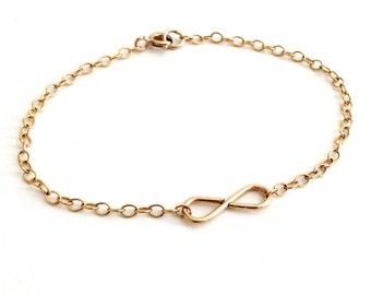 Infinity Gold Bracelet. Aziza Jewelry