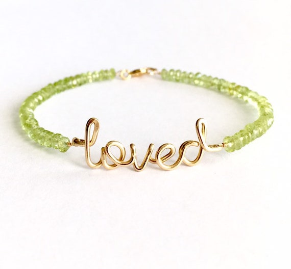 Gold Branch BraceletAugust Birthstone BraceletPeridot BraceletGifts for Her Peridot Green Antique Gold Branch BraceletBoho Green