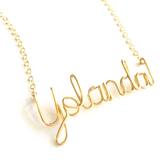 Great Gifts for Teens Personalized Custom Made 14k Gold-Plated 925 Sterling Silver Name Necklace for Girls for Women