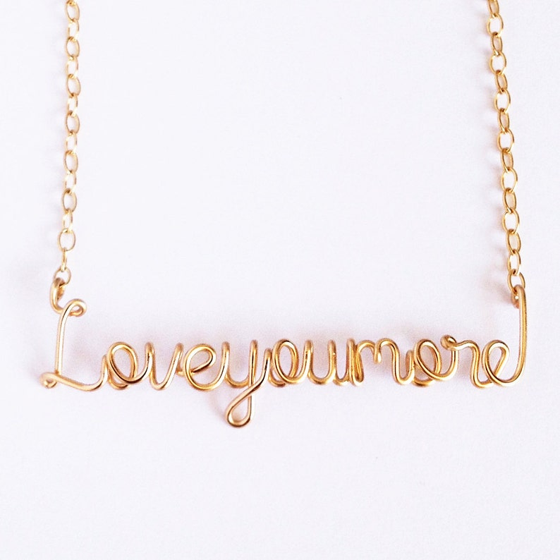 Love Necklace Gold Love you more necklace Valentines Day Gift Necklace Love You More Necklace
