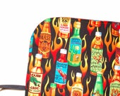 Crochet Hook DPN Organizer Spicy! DPN Storage Case Pencil case  gift for knitter foodie hot sauce Quiltsy Handmade