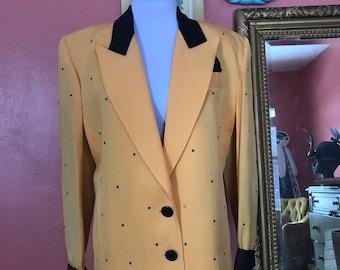 Vintage Solini Rhinestone 1980s Blazer