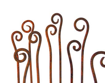 Merveilleux Free Shipping Scroll Garden Stakes Fiddle Heads Sold Individually Handmade  Metal  Garden Art Home And Garden Decor