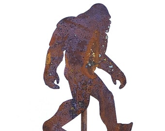 Big Foot Sasquatch Yeti Metal Garden Art Stake-Home and Garden Decor