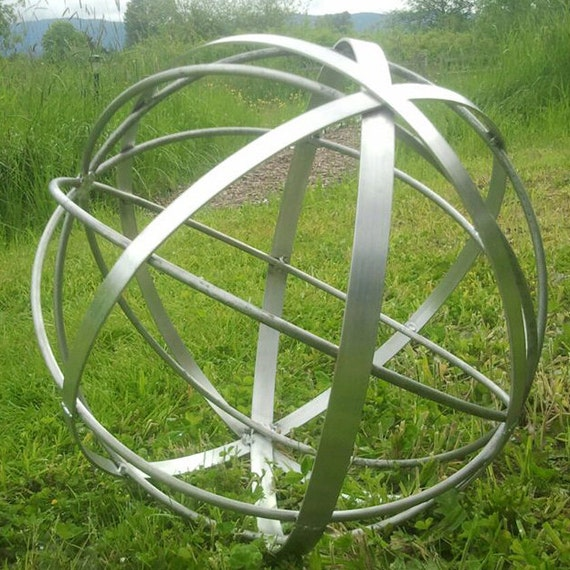 Stainless Steel Metal Art Sphere Handmade 22 Free Etsy