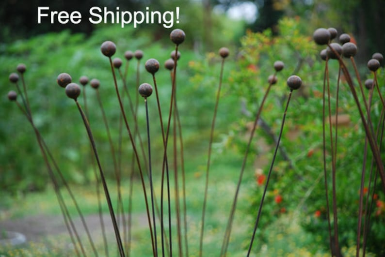 Free Shiping  Kinetic Metal Garden Art Sculpture Grouping of image 0