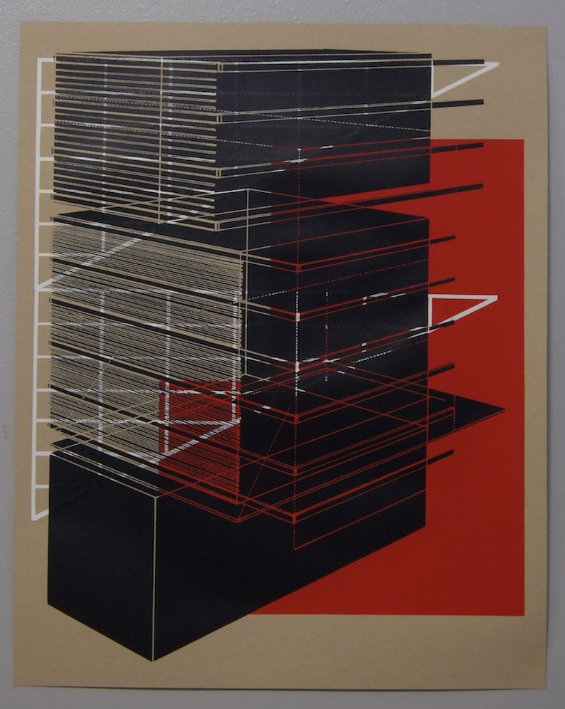 Perspective architecture 8 multilayer 16 x 20 inch silkscreen image 0
