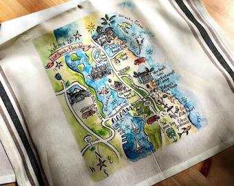 Map Of Vero Beach Florida.Vero Beach Map Etsy