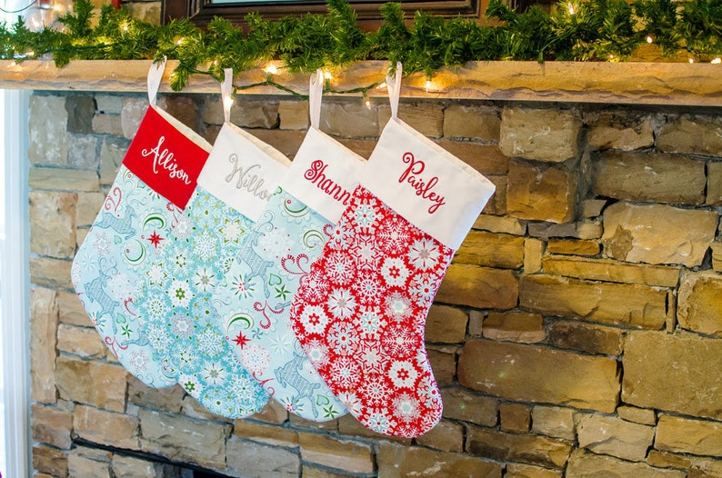 XMas Stocking Christmas Sock Family Stockings Personalized image 0