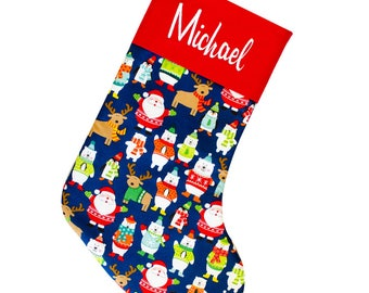 Kids Stockings Personalized, Kids Stockings Christmas, Personalized Christmas Stockings for Kids, 1st Christmas CS0038 by Forshee Designs
