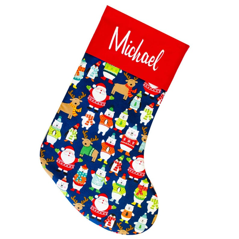 Kids Stockings Personalized Kids Stockings Christmas image 0