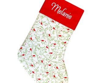 Christmas Sock, Personalized Christmas Stocking, Family Christmas Stocking, Embroidered Stocking, Family Stocking