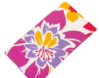 CLEARANCE Floral Checkbook Case Fabric Checkbook Wallet Personalized Cover Monogrammed  CK0010