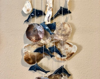 Dolphin Wind Chime with Shells