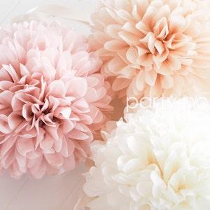 Tissue paper flowers etsy blush champagne tissue paper poms mightylinksfo