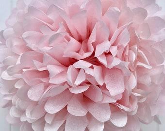 Light Pink Tissue Pom Pom .. Wedding Decoration / Bridal Shower