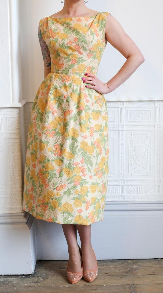 Original Vintage 1950s Pastel Floral Borcade Will