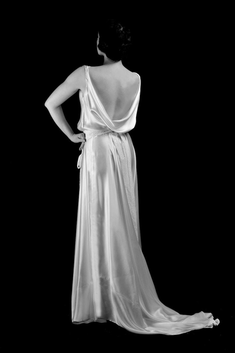 122c379bd0 1930 Silk Satin Bias Cut Old Hollywood Wedding Dress Made
