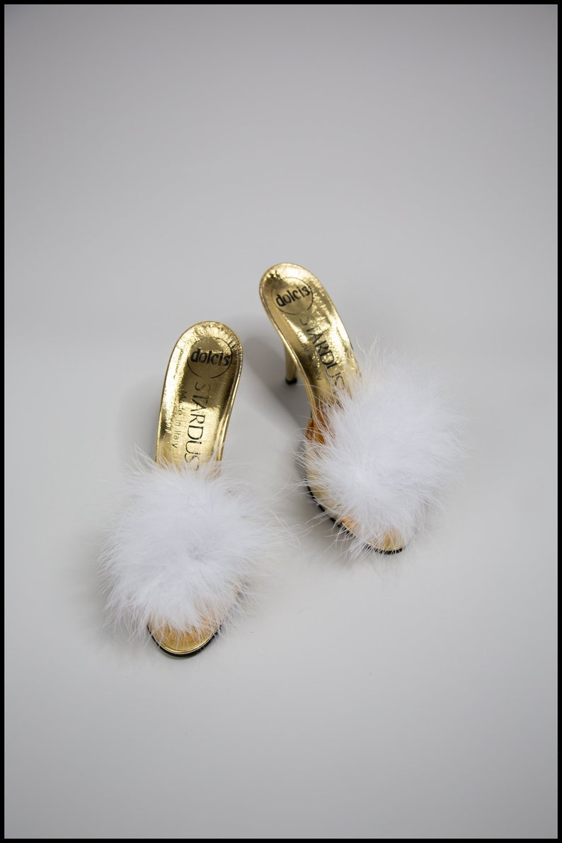 70s Clothes | Hippie Clothes & Outfits Fluffy Feather Marabou Ivory Pink Blue White Shoe Clips by Alexandra King - Vintage Inspired Old Hollywood - Free Shipping $49.99 AT vintagedancer.com