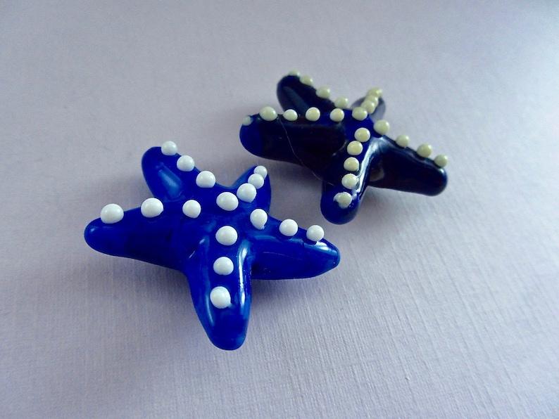 Starfish Focal Beads Handcrafted Lampwork Glass Creation SRA