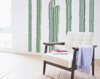 Desert Cacti Wall Decal  - 6-4 feet tall (Quantity of 5)