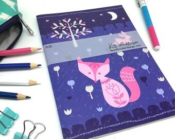 Folk Fox A5 Notebook Sketchbook Journal