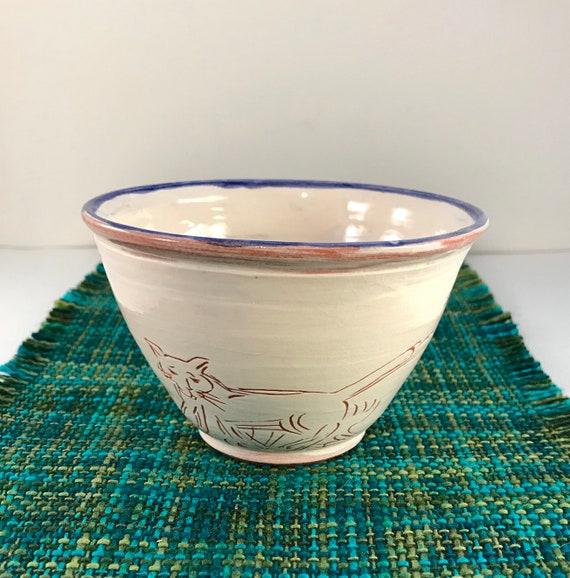 Ceramic Bowl Single Serving Size Pottery Bowl Soup Salad