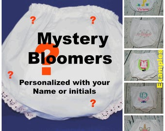 28190ad291f6 Personalized Baby Bloomers - Mystery Grab Bag Monogrammed Bloomers