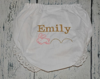 Personalized Bunny Bloomers Easter