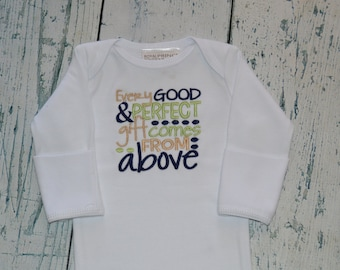 Baby Gown Every Good and Perfect Gift Comes From Above  James 1:17