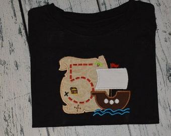 Personalized Pirate Birthday Treasure Map Shirt
