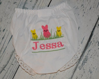 Personalized Easter Bunny Bloomers Monogram Diaper Cover